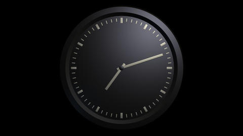 minimalist black clock timelapse with alpha Animation