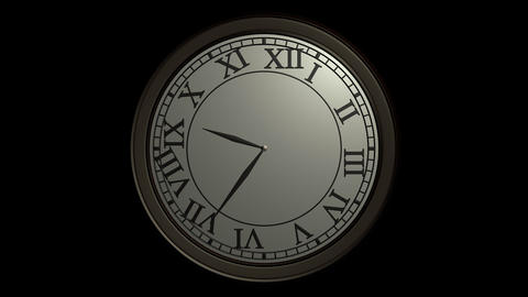 classic wall clock ticking with alpha Animation