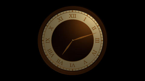 roman ancient clock with alpha Stock Video Footage