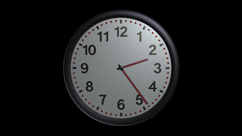 Elegant Wall Clock With Alpha stock footage