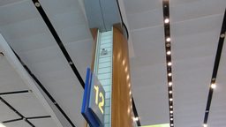 Singapore Changi Airport departure hall(SINGAPORE Stock Video Footage