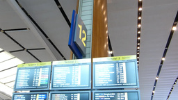 Singapore Changi Airport Departure Hall(SINGAPORE  stock footage
