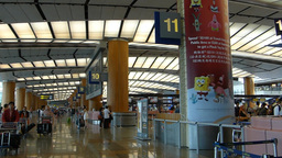 Singapore Changi Airport departure hall (SINGAPORE Footage