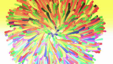 Color dynamic lines & Abstract Art such as flowers... Stock Video Footage