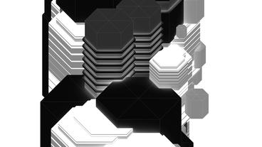 Black and White abstract geometry art,Fashion Technology pattern Background Animation