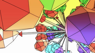 Abstract art background,Cartoon toys&Fairy tale Sci-fi polygon in Virtual sp Animation