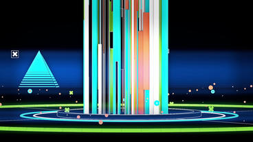 Beam emitted stripes in Virtual stylish space,Abstract modern geometric art back Animation