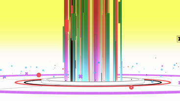 Beam emitted stripes in Virtual stylish space,Abstract... Stock Video Footage