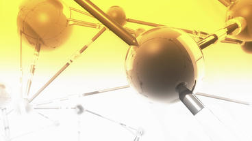 Geometry glass balls in computer virtual space,sci-fi... Stock Video Footage