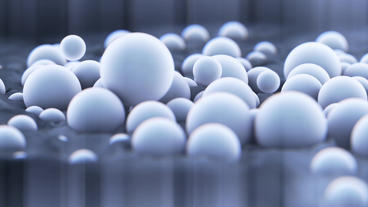 Abstract beads balls bubbles falling,Microbial cell egg... Stock Video Footage