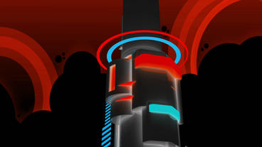 Science fiction machine world,space station pipeline,assembly pillar background Animation