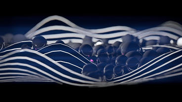 Falling black pearls,glass beads on abstract lines... Stock Video Footage