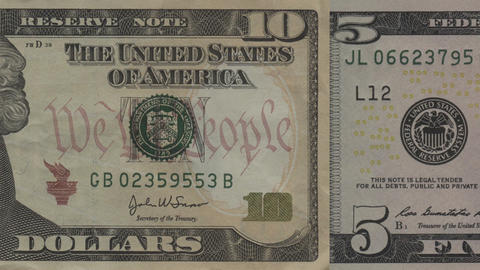 U.S. Money In Motion Stock Video Footage
