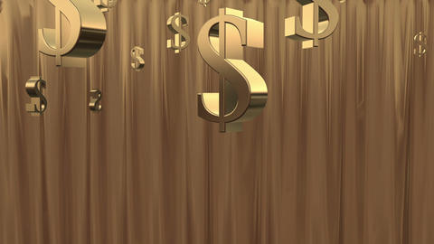 Money Shower. Gold Stock Video Footage