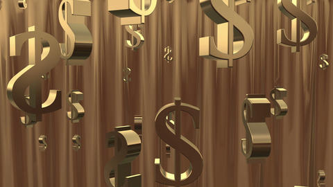 Money Shower. Gold stock footage