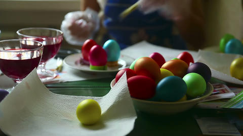Easter eggs Stock Video Footage