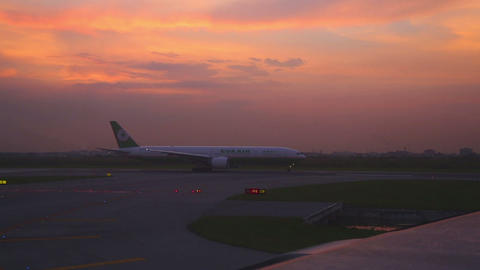 Early morning at the airport Stock Video Footage