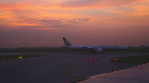 Early morning at the airport Footage