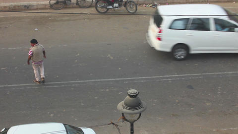 Busy day in Agra Stock Video Footage