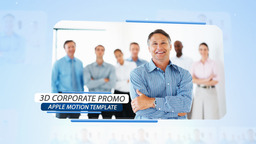 3D Corporate Promo - Apple Motion and Final Cut Pro X Template Apple Motion Project