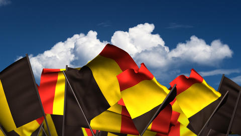 Waving Belgian Flags Animation
