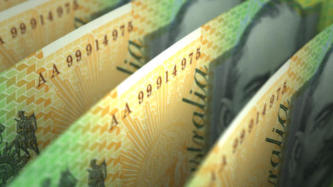 Australian Dollar Close-up Stock Video Footage