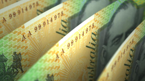 Australian Dollar Close-up Animation