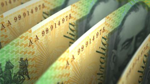 Australian Dollar Close-up Stock Video Footage