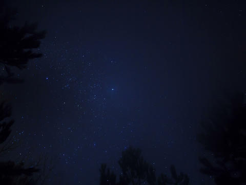 Stars in the sky. Time Lapse. 4x3 Footage