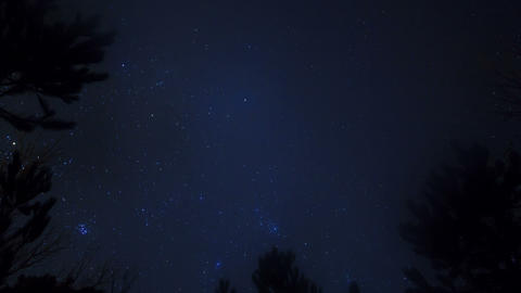 Stars in the sky. Time Lapse Stock Video Footage