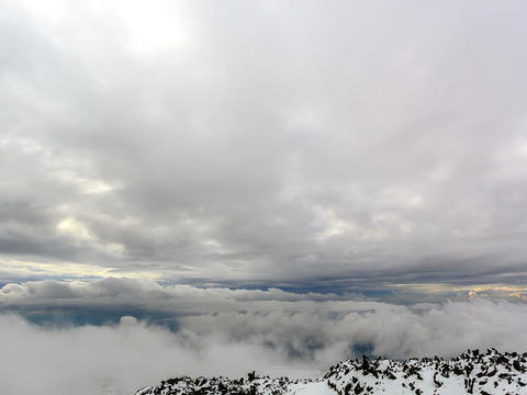 Between clouds. Time Lapse. 4x3 Stock Video Footage