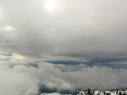 Between clouds. Time Lapse Stock Video Footage
