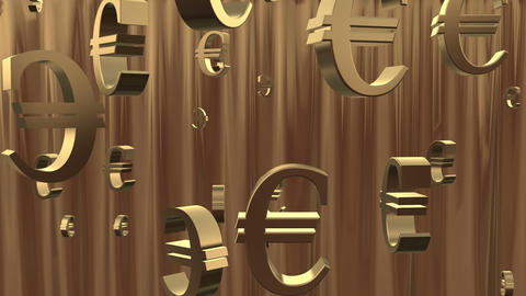 Euro Background stock footage
