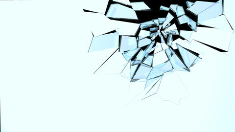 Glass Break 03 Stock Video Footage