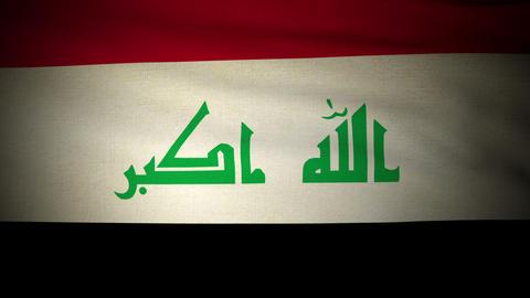 Flag Irak 04 Stock Video Footage