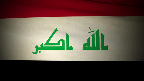 Flag Irak 04 stock footage