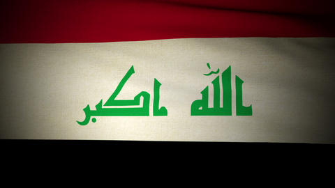 Flag Irak 04 Stock Video Footage