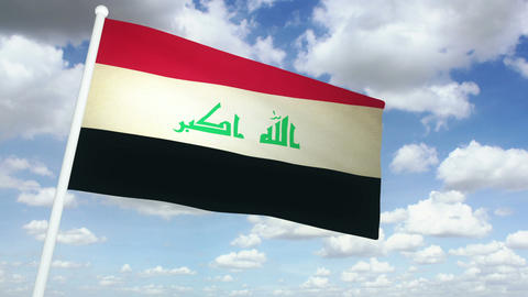 Flag Irak 02 Animation