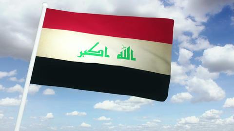 Flag Irak 02 Stock Video Footage