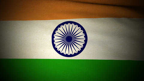Flag India 04 Stock Video Footage