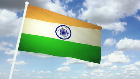 Flag India 02 Animation