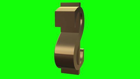 Dollar symbol rotates close up Stock Video Footage