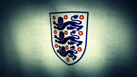 World Cup England National Football Team Flag Text Animation