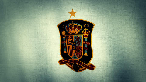Spain National Football Team Flag (Loopable) Animation