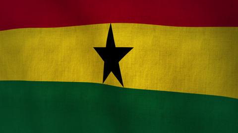 Ghana Waving Flag (Loop-able) Animation