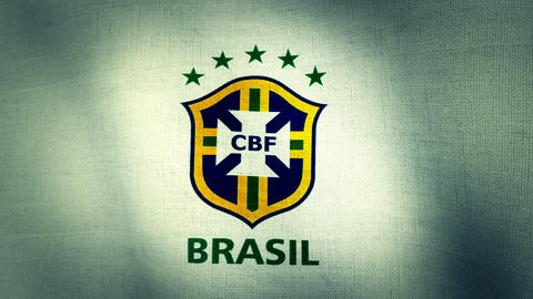 Brazil CBF World Cup 2014 Flag Logo Animation