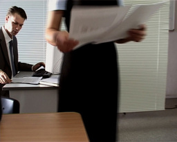 Office Life stock footage