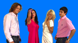 Friends Dancing stock footage