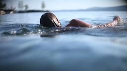 Woman Swimming Underwater Footage