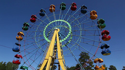 Ferris Wheel In Park stock footage